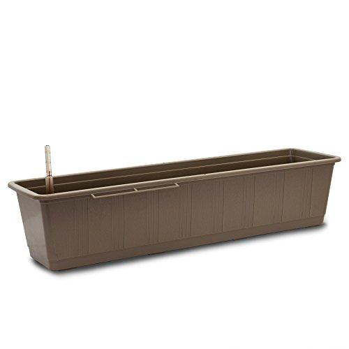 Bewässerungs - Kasten Aqua Green Plus 80 cm Taupe + Wasserstandsanzeiger