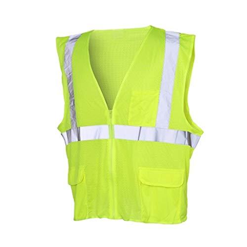 YONG FEI Chaleco Reflectante, Chaleco Multi-Bolsillo de Seguridad del Tráfico en construcción El Traje de Montar a Caballo de Tela de Malla de Coches Reflector Ropa de Trabajo al Aire Libre