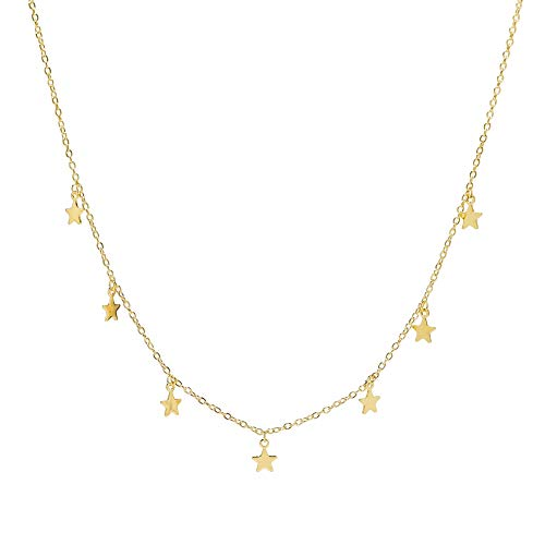 Star Choker Necklace (Yellow Gold)