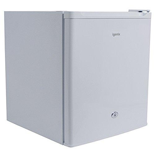 Igenix IG3711 Table Top Fridge with 47 Litre Capacity, 4 Litre Freezer Compartment, 1 Shelf, Reversible and Lockable Door, White