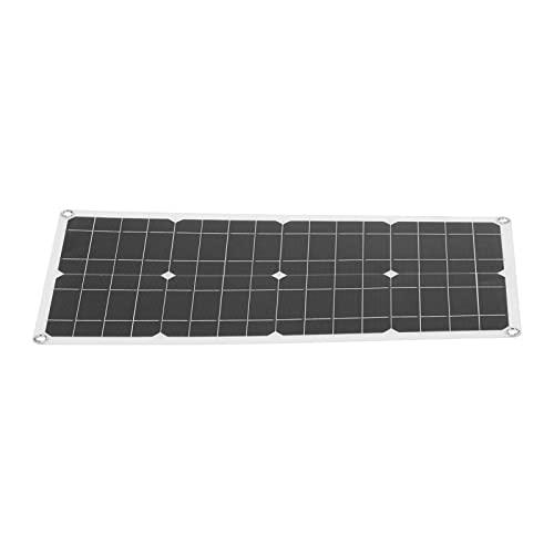 Panel Solar De 40 W, Panel Solar Flexible De Silicio Policristalino, Panel Solar con Cargador USB para Smartphone, Powerbank, Portátil, Coche