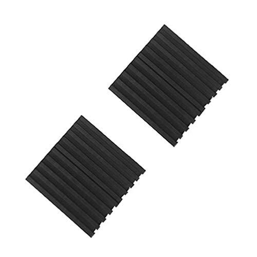 Vosarea 4 Stücke Anti Vibration Pads Vollgummi Rippen Elastische Stoßgeräusche Schallisolation Vibration Pads Dämpfung Pad Matten