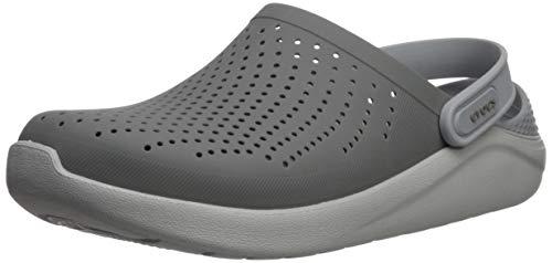 Crocs Unisex-Erwachsene LiteRide Clogs, Grau (Smoke/Pearl White 06j), 42/43 EU
