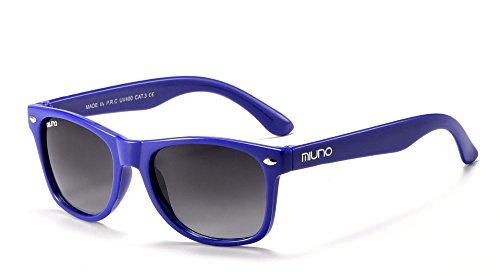 Miuno Miuno® Kinder Sonnenbrille für Jungen und Mädchen Etui 2688 (Blau)