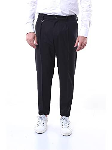 PAOLO PECORA B1243011 Pantaloni Regular Uomo Nero 44