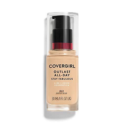 COVERGIRL - Outlast Stay Fabulous 3-in-1 Foundation Medium Beige - 1 fl. oz. (30 ml)
