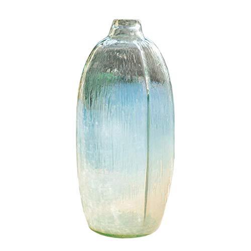 ZXL Grote heldere glazen bloempot gemaakt van glas voor hydroponische gedroogde bloemplant, ideale tafeldecoratie voor het thuiskantoor 35cm
