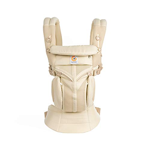 Ergobaby Omni 360 Cool Air Mesh Baby Carrier for Newborn to Toddler, 4-Position Ergonomic Child Carrier Backpack, Natural Weave