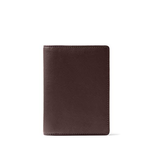 Leatherology RFID Brown Deluxe Passport Cover