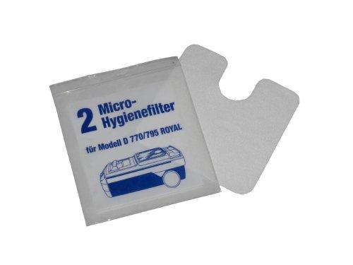 2 Hygienefilter Microfilter für LUX Electrolux D748 750 760 D770-795 Royal
