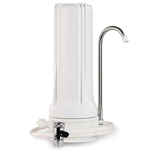 "iSpring CKC1 Countertop Drinking Water Filtration System with Carbon Filter 2.5"" x 10"", White"