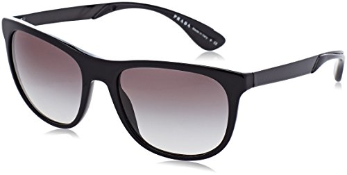 Prada 0PR04SS 1AB0A7 57 Gafas de Sol, Negro (Black/Grey), Unisex-Adulto
