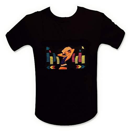 Preisvergleich Produktbild T-Shirt Equalizer LED-Beleuchtung dj Licht blond Größe L