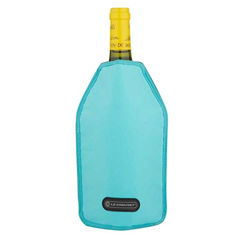 LE CREUSET WA126 Funda enfriadora para Botellas de Vino o Cava, Tejido Impermeable, Azul (Caribe)