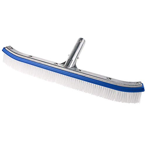 Homga Swimming Pool Brush, 18' Pool Brush,Nylon Algae Pool Brush Designed for Cleans Walls, Tiles & Floors Effortlessly