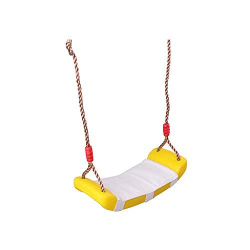ROEWP Columpio de jardín para niños, columpio de interior, balcón, hogar, exterior, cojín de plástico para niños, columpio duradero (color: E)