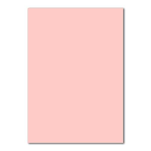 50 DIN A4 Papierbogen Planobogen -Rosa - 160 g/m² - 21 x 29,7 cm - Bastelbogen Ton-Papier Fotokarton Bastel-Papier Ton-Karton - FarbenFroh®