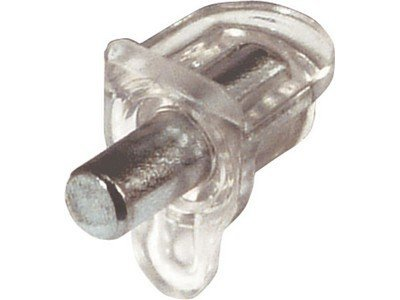 Shelf support Studs PEG plug in for Ø 5 mm hole 60 kg load carrying capacity Pack of 12