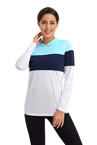 GOLDPKF Damen Pullover Sweatshirt Workout Tops Lose Dri Fit Langarm UV-Schutz Hautausschlag Guards Outdoor Running Gear Shirts Mehrfarbig S 36-38
