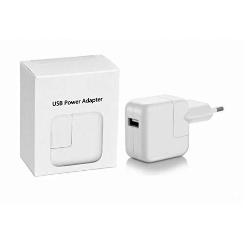 Fuente de alimentación Cargador USB de 12 W para iPad, Blanco, iPhone iPod Cargador de batería para iPad, Adaptador de Corriente USB de 12 W Enchufe para iPhone iPad Apple Watch Tablet, en Caja