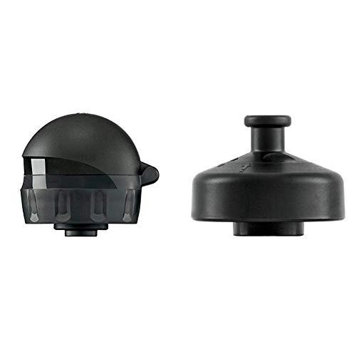 SIGG Verschluss ABT Complete Trinkflasche, schwarz, one Size & Erwachsene Verschluss 3 Stage Sports Top Schraubverschluss, schwarz, one Size