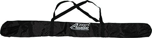 Audio2000S AST4395-ACC4395-98 7 x 43 in. Single-Pack Speaker Stand Carry Bag