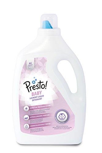Amazon-Marke: Presto! Vollwaschmittel Baby, 176 Waschgänge (4 x 44 Waschladungen)