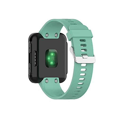 KINOEHOO Correas para relojes Compatible con Garmin Forerrunner 35/30/35J ForeAthlete 35J Pulseras de repuesto.Correa de Reloj.(Verde azulado)