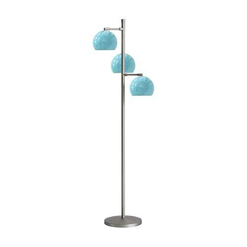 GWXSST Led Lámpara de pie Moderna Minimalista lámpara de pie de la Sala Dormitorio Lámpara de pie (Color : Blue)