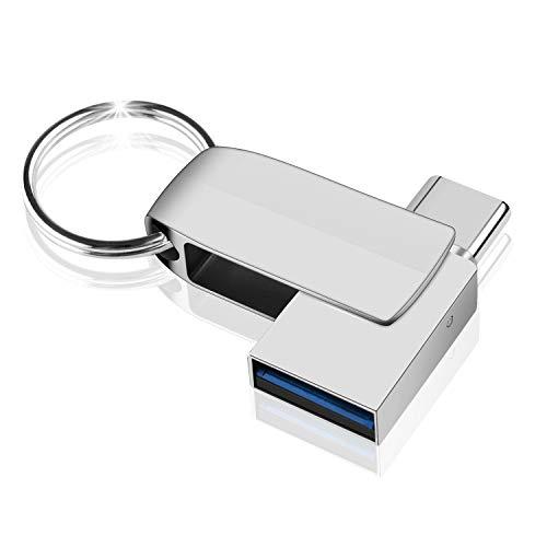 USB Stick 32GB, NINECY 2-in-1 USB C Stick (USB 3.0+Type C) Speicherstick OTG Memory Stick Geburtstag/Weihnachten Geschenk für Tablet, PC, MacBook Pro, Android Handy(Samsung, Huawei, Xiaomi usw.)