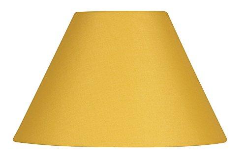Oaks Lighting Pantalla para lámpara (algodón, 30,5 cm), Color, amarillo mostaza