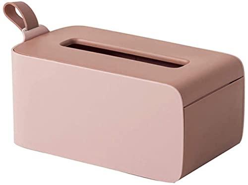 IOUYRRN Soporte de tejido, soporte de dispensador de tejido húmedo, caja de tejido húmedo y seco, caja de pañuelos, caja de almacenamiento de la servilleta cubierta de la caja del tejido (color: rosa)