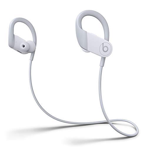 Powerbeats Wireless High-Performance In-Ear Kopfhörer - Apple H1 Chip, Bluetooth der Klasse 1, 15 Stunden Wiedergabe, Schweißbeständige In-Ear Kopfhörer - Weiß (Neuestes Modell)