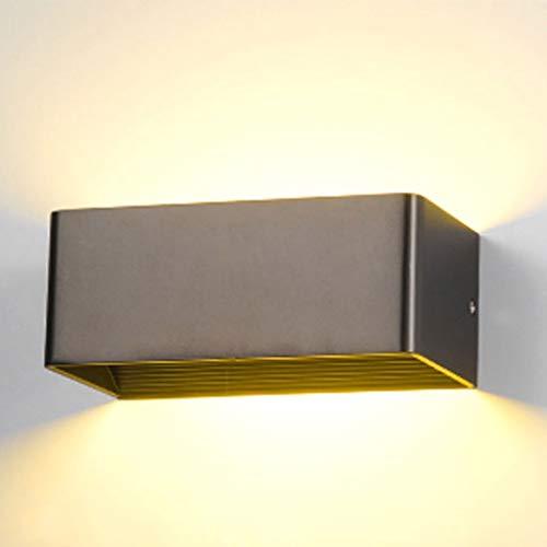TXTC Moderne led-wandlamp voor binnen, met aluminium, waterdichte buitenwandlamp voor buiten, voor portische woning in de slaapkamer, decoratie
