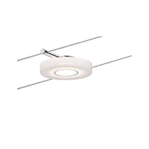 Paulmann 940.90 corda System discled1 Single espansione bianco caldo 1 X 4 W LED cromato satinato 94109 corda lampada a sospensione, plastica, argento