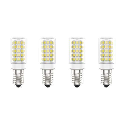 Lampadine a LED E14, 7W (Equivalente a 70W), Bianco Freddo (6000K), AC220-240V, Senza Sfarfallio, Non Dimmerabile, 700 Lumens, CRI80, Pacco da 4 - (Bianco Freddo, 7W)