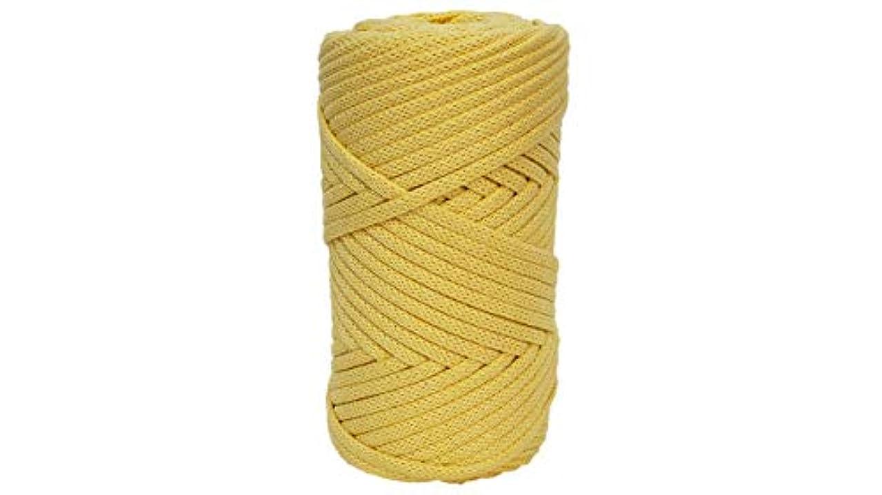 Cotton Cord (5mm) 65 Yards/Cotton Cord Yarn/Bulky Yarn/Pouf Rope/Crochet Yarn/Knitting Yarn/XL Yarn/Modern Crochet/Cord Yarn (Yellow)