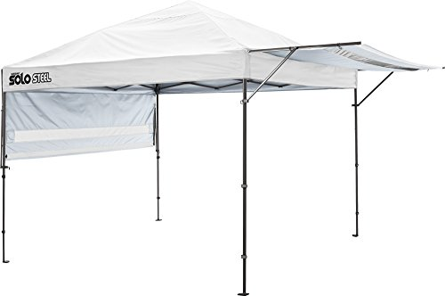 Quik Shade 10' x 17' Solo Steel 170 Square Feet of Shade Straight Leg Outdoor Pop-Up Canopy - White