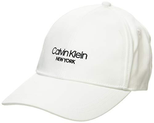 Calvin Klein BB Cap Gorro/Sombrero, Blanco, Talla única para Mujer