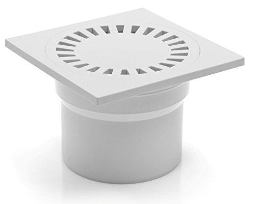 Desagüe de ducha de baño de sumidero de 150x 150mm–DN 110–(323P de B)