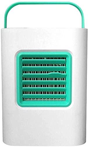 wsbdking Refrigerador de Aire USB Fan de refrigeración Purificador de Aire Humidificador LED luz Nocturna (Color: Azul) -Blue (Color : Green)