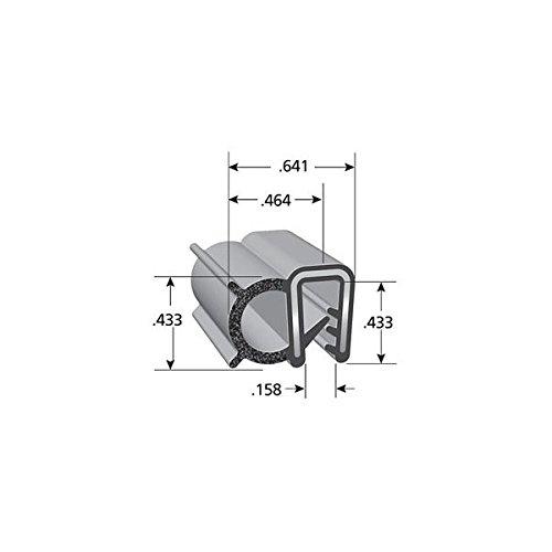 "Trim-Lok Trim Seal with Side Bulb – PVC Plastic Trim with EPDM Rubber Bulb Seal – Fits 0.040"" - 0.125"" Edge, 7/16"" Bulb Seal Diameter, 100' Length"