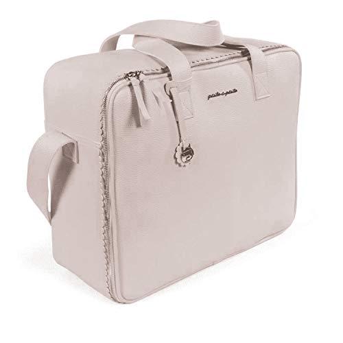 Pasito a Pasito. Maleta Bebé Biscuit. Bolsa de Maternidad para Hospital/clínica Fabricada en Eco-Leather Tipo Vacuno Color Rosa. Medidas 46 X 37 X 17 cm.