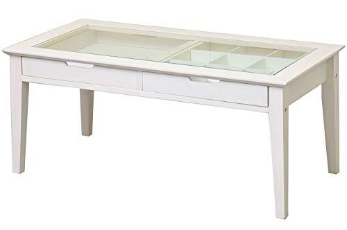 市場 コレクションテーブル ine reno 幅90x奥行45cmx高さ40cm ホワイト 天然木使用 INT-2576WH