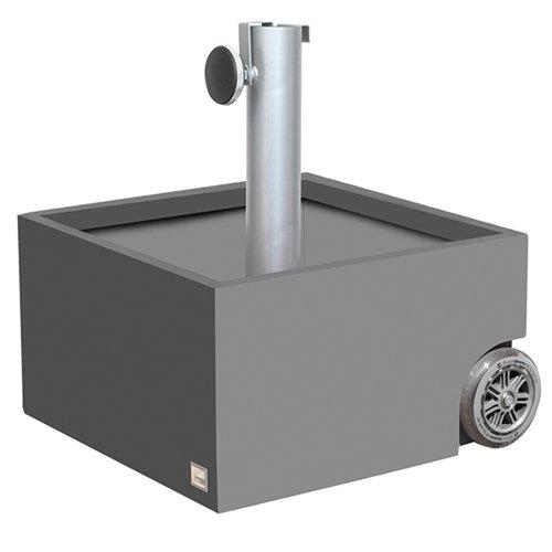 XXD 0-811 Schirmständer für Schirmstöcke Durchmesser 25-56 mm, Leergewicht 12 kg, Volumen 50 L, 45 x 45 x 26 / 50 cm, grau