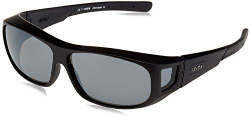 Uvex Unisex– Erwachsene Ultra-Spec M Sportsonnenbrille, Black Mat/Lens Litemirror Silver, One Size