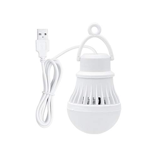 Luz del colgante al aire libre Lámpara LED portátil USB Linternas 3W 300lm del bulbo 6500K blanca luz de la noche for al aire libre que va de excursión de pesca tienda del recorrido de iluminación par