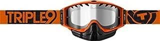 Triple 9 Optics Saint SNX Snow Goggles w/Tear Off Pins - One size fits most/Orange