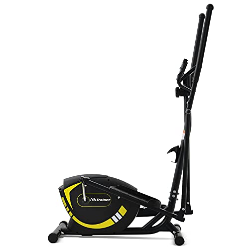 Elliptical Exercise Trainer Machine for Home Use, Portable Elliptical Trainer with 8 Level Resistance and Digital Monitor, LWFLIFE