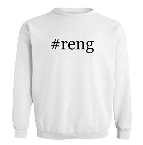 #reng - Men's Soft & Comfortable Long Sleeve T-Shirt, White, Large